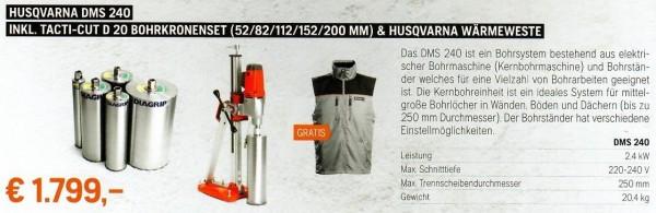 DMS 240 inkl. TACTI-CUT D 20 Bohrkronenset