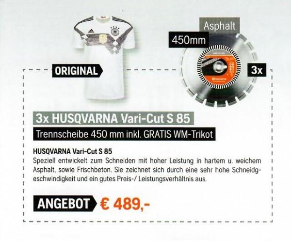 3x Husqvarna Vari-Cut S85